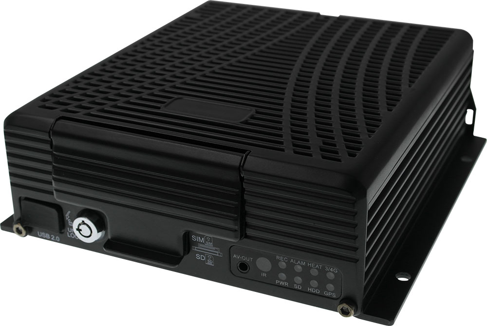 5 channel Camera Hard drive Mobile DVR with GPS 4G