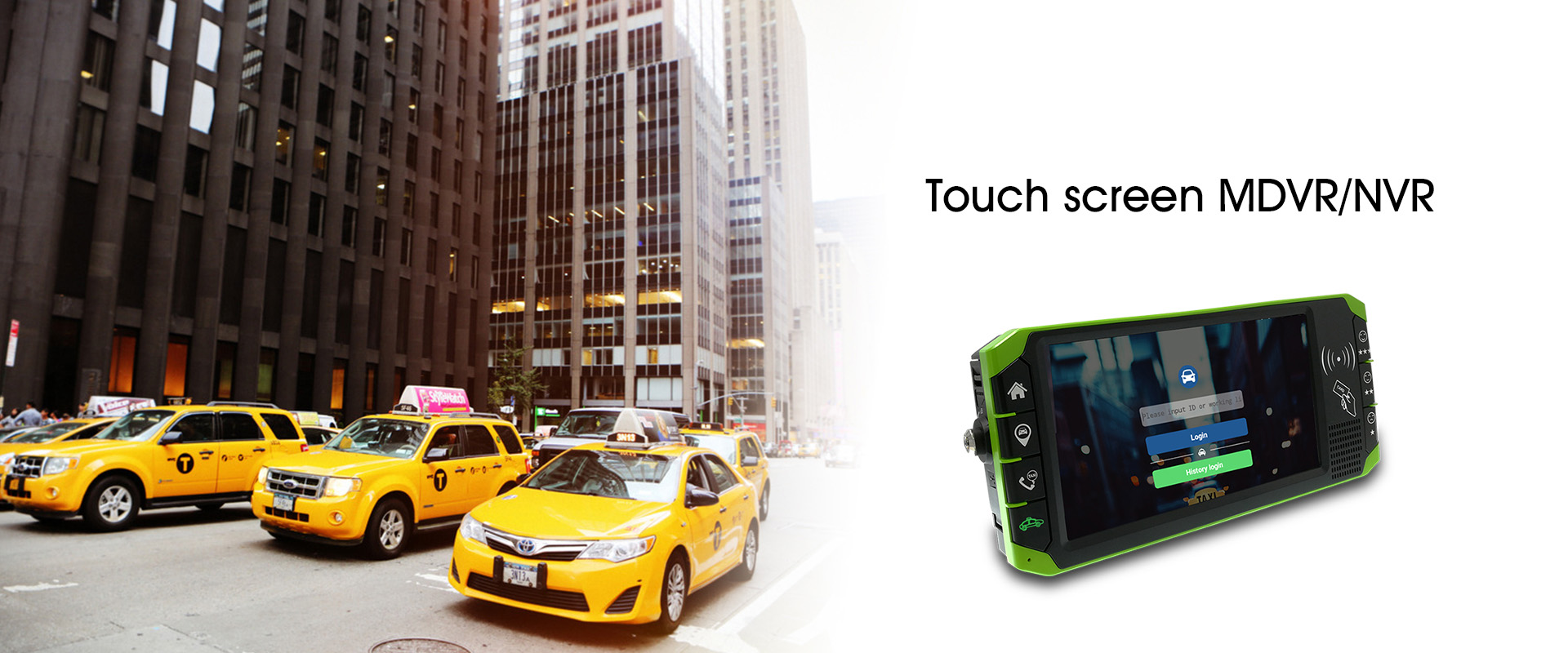 Touch screen MDVR/NVR