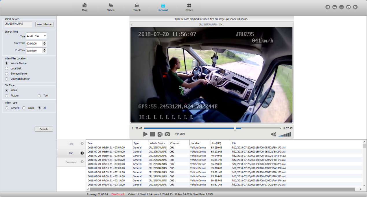 How does Mobile DVR with GPS facilitate fleet management Picture4