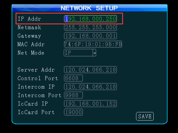 How to use Network Cable connect PC and login the Web of MDVR Picture1