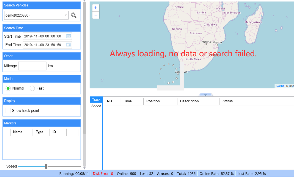 Search GPS Track Failed via IVMS Client Picture1