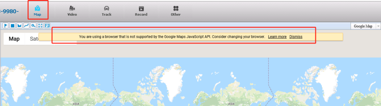 Remove the error prompt about 'JavaScript API not support your browser' Picture1
