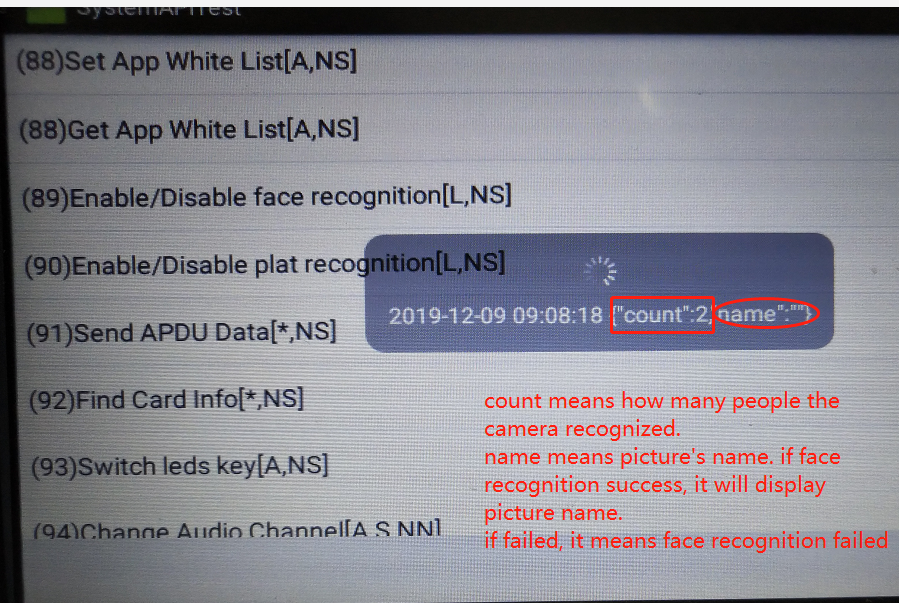 How to test SDK about Face recognition Picture4