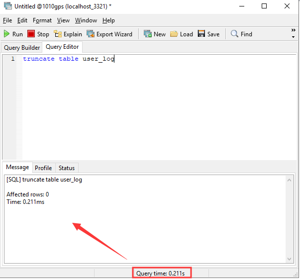 How to use command delete the user_log data Picture6