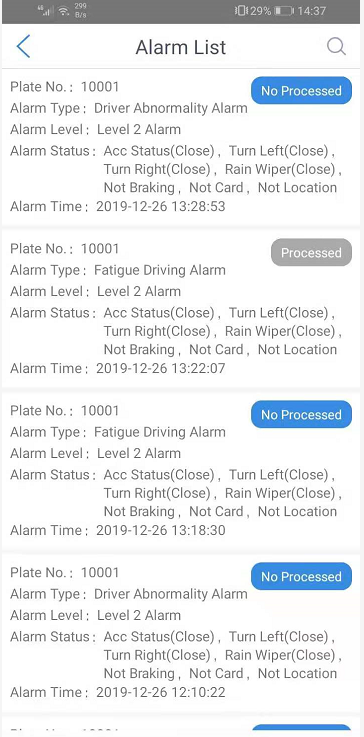 How to check ADAS and DSM alarm at Android APK side Picture3