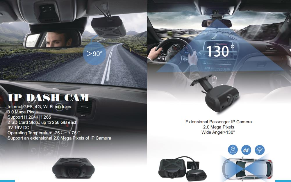 The comparison of 2 channel Mobile DVR and the traditional dashcam Picture1