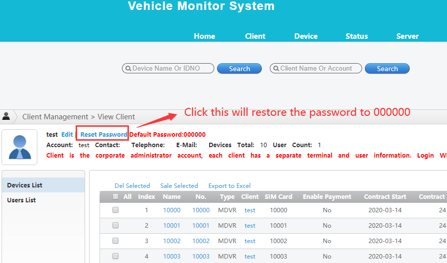 How to restore the IVMS Client account default password Picture4