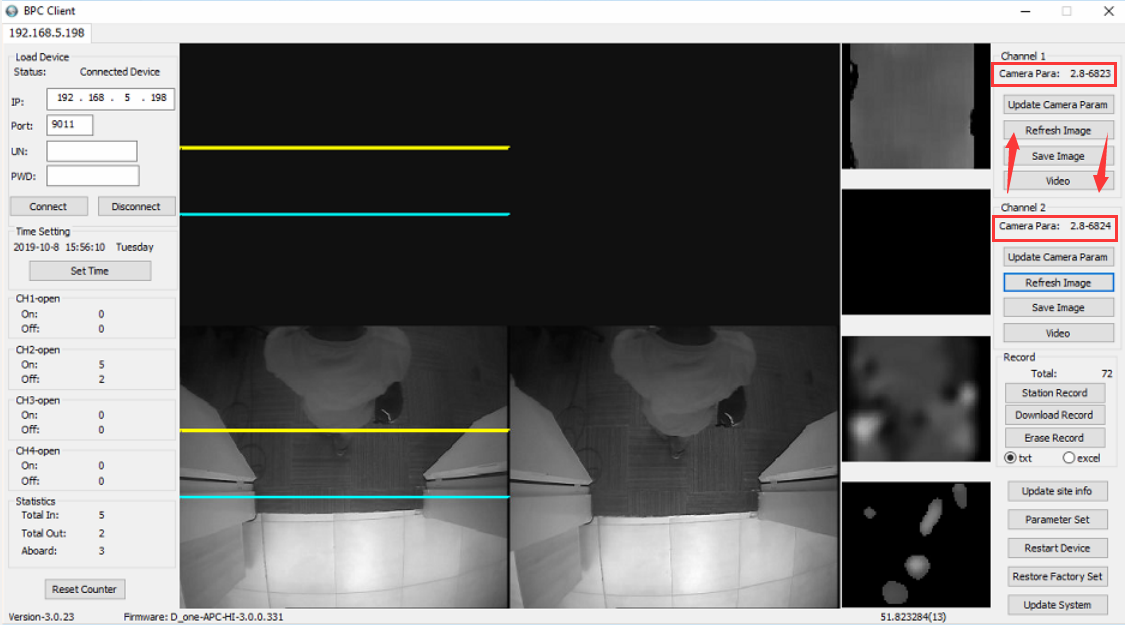 How to update parameter of Passenger Counter camera Picture5