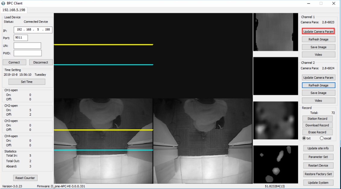How to update parameter of Passenger Counter camera Picture7