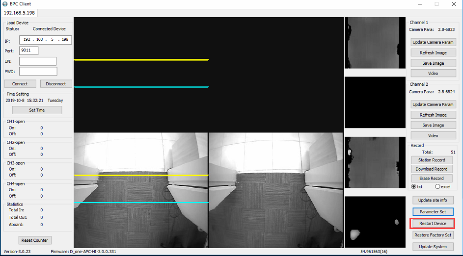 How to update parameter of Passenger Counter camera Picture8