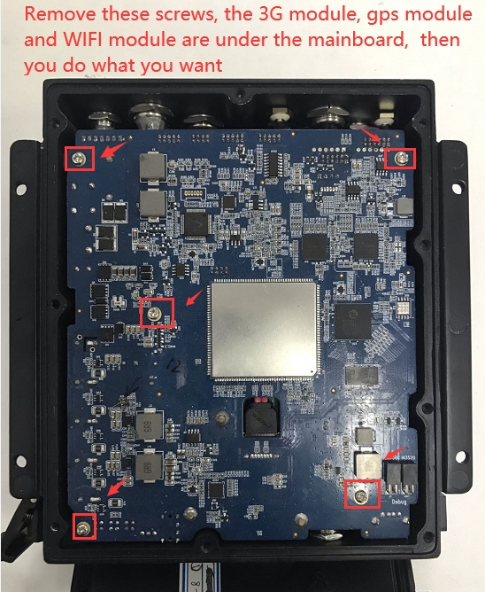 How to remove the enclosure of MDVR Picture2