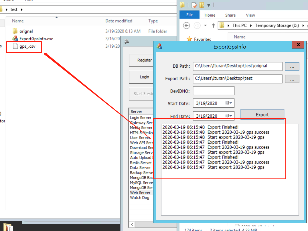 How to save the GPS data files CSV Format Picture5