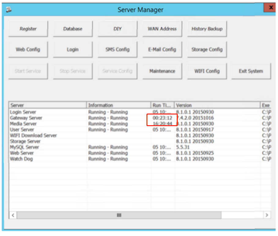 How to solve gateway and Media Server stop occasionally  issue Picture1