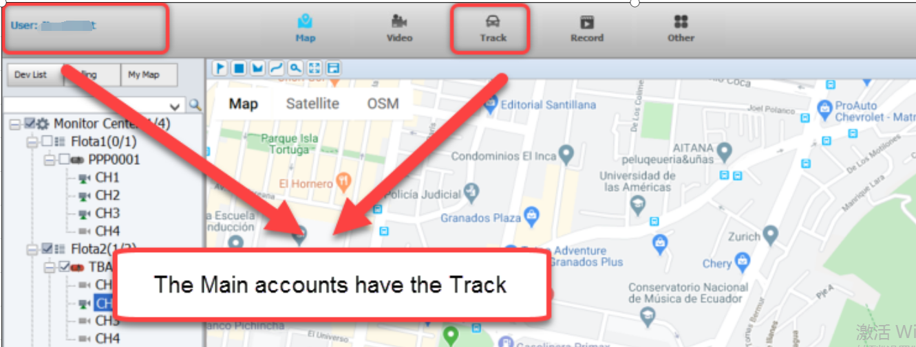 How to get track option in IVMSClient Picture1