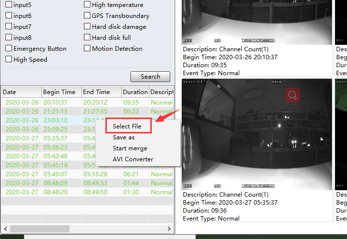 How to identify the H265 video's start time and end Picture5