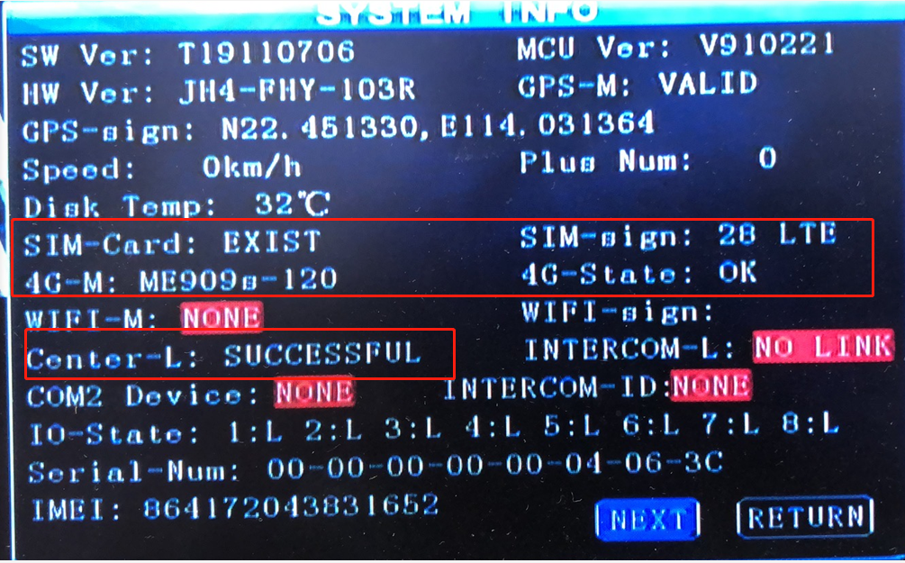 System-info of MDVR is Online  but Offline with IVMSClient Picture2