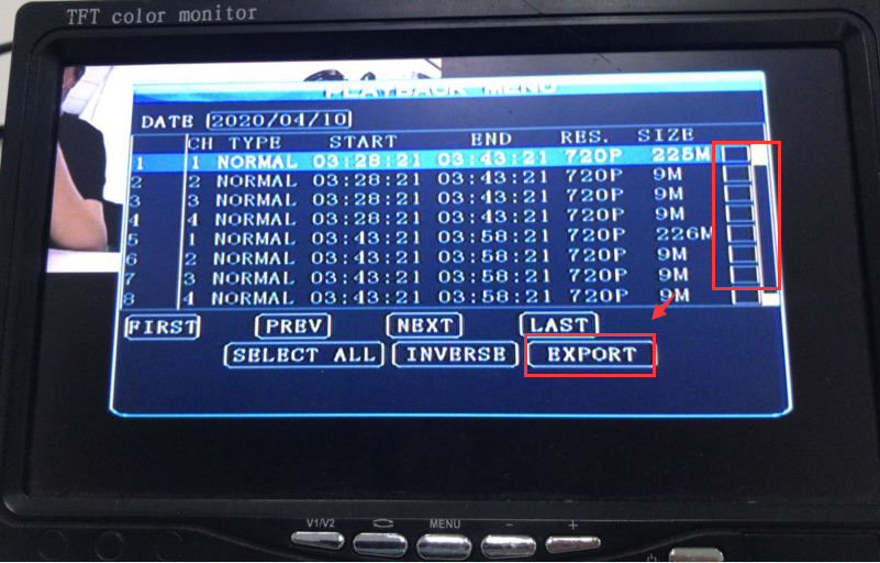 How to solve the USB/SD card can not export MDVR parameters Picture8
