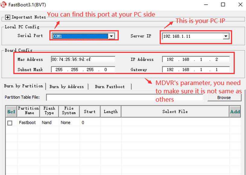 How to use FastBoot3.1_BVT tool burn the u-boot  Picture2