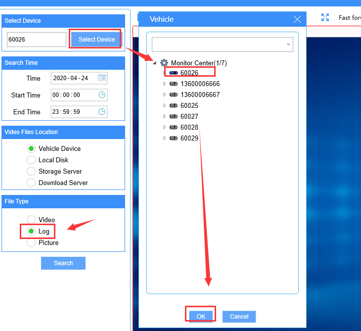 How to export the MDVR parameters from IVMS Client side Picture2