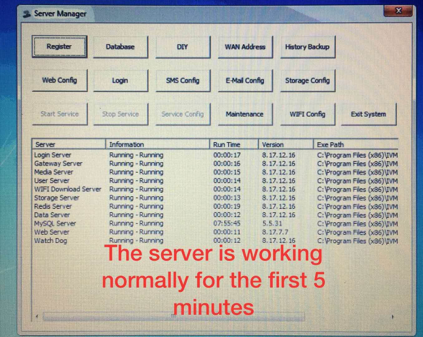 How to solve the issue about 'each services connect Login Server failed frequently' Picture1