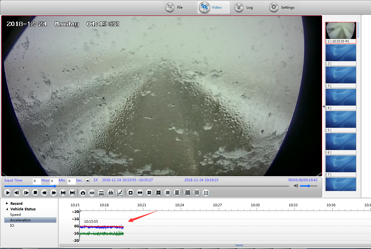 How MDVRPlayer read G-sensor information Picture2