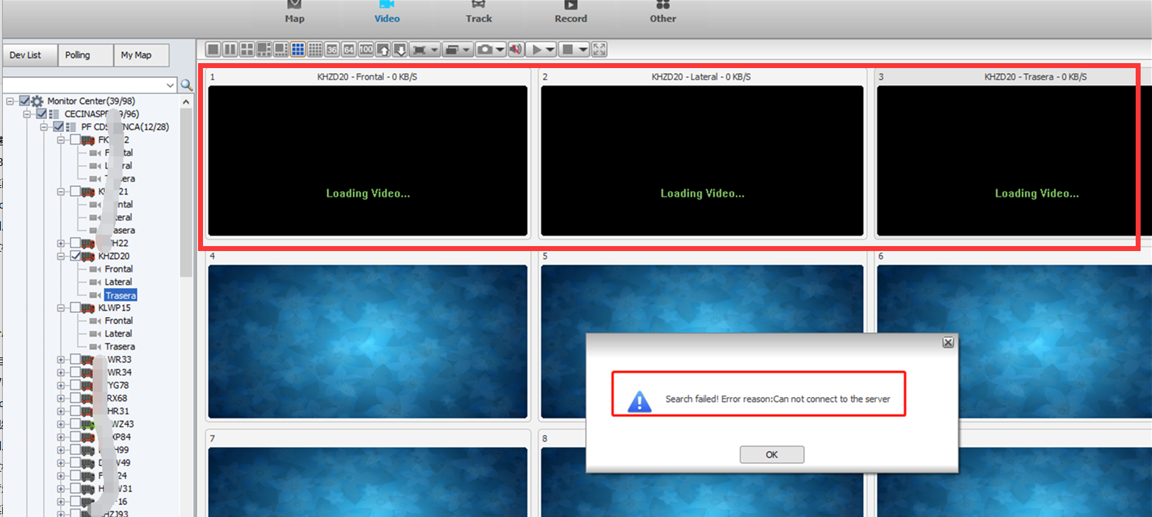 How to solve preview video failed due can not connect Server Picture1
