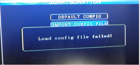 Each error about importing / exporting parameter file Picture5