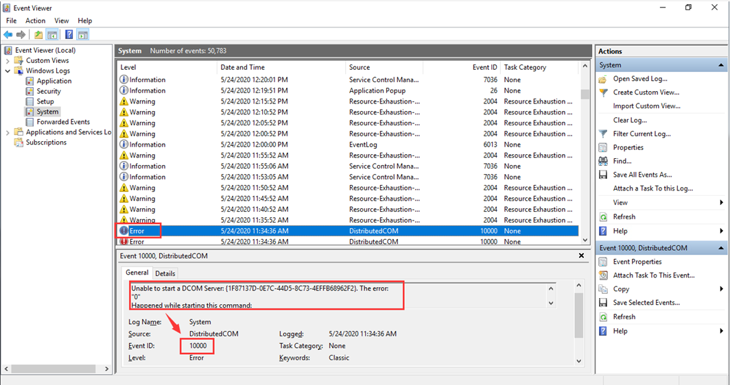 How to use Event Viewer check errors from system or application Picture5