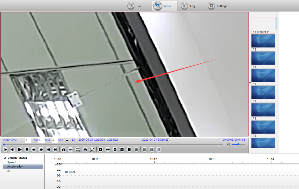How to zoom one area in the video using MDVRPlayer Picture4