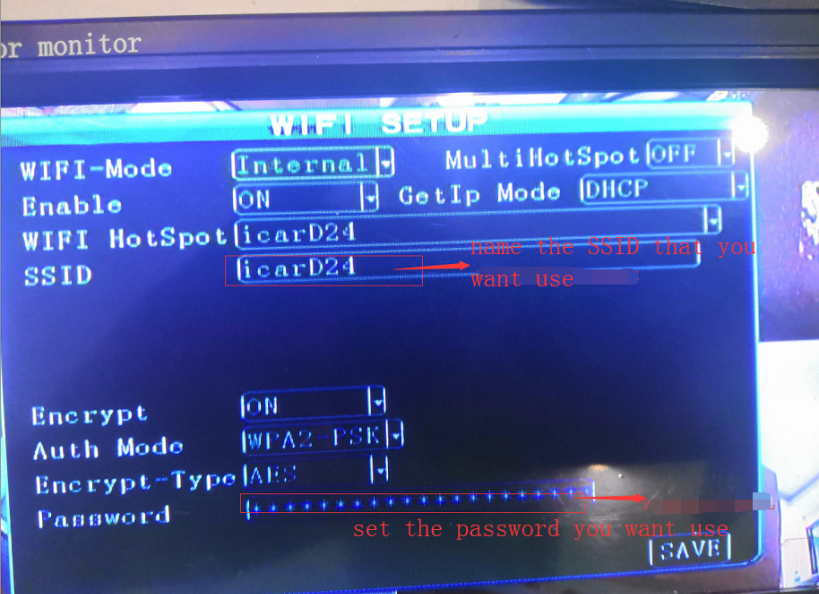 How to set wifi parameter support hotspot function Picture1