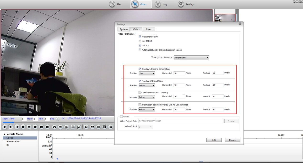 How to use Overlay funciton on MDVRPlayer Picture1