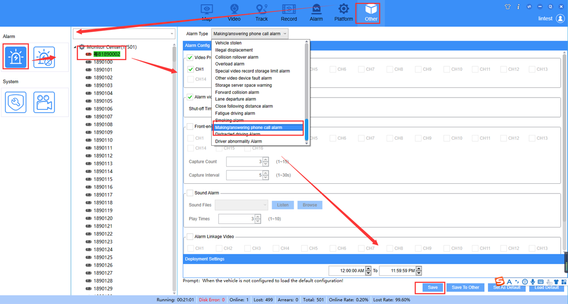 How to set ADAS and DSM alarm linkage at IVMS Client side Picture2