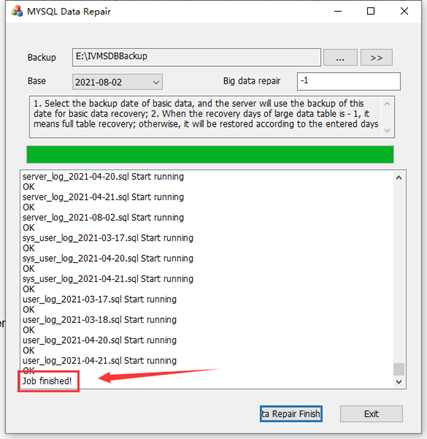 How to use MySQL Server Manager Backup and Restore data Picture6